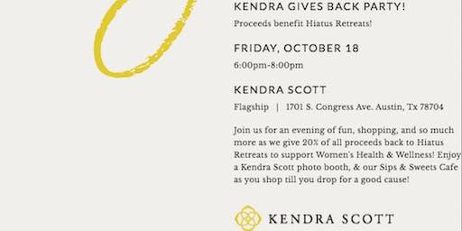 Kendra Gives Back Party, benefiting Hiatus Retreats!