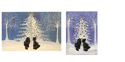 "Adult Open Paint (18yrs+) Date Night or Single ""Mr & Mrs Claus"""