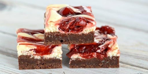 Couple's Night Out - Cherry Cheesecake Brownies & Chocolate Wine