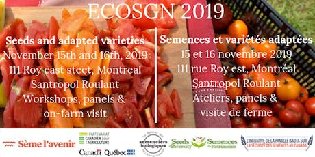 ECOSGN 2019 : Semences et variétés adaptées // Seeds and Adapted Varieties  tickets