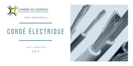 Visite Industrielle de Cordé Électrique à Maricourt billets