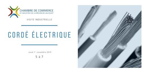 Visite Industrielle de Cordé Électrique à Maricourt
