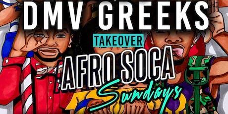 DMV GREEKS Takeover Afro Soca Sundays FREE! ($5 Rum|$15 Hookah|$10 Drinks) tickets