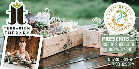 Rustic Succulent Box at Tannery Run Brew Works billets