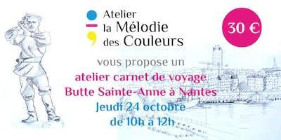 Carnet de voyage à la Butte Sainte Anne, Nantes