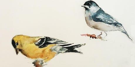 Beginner Watercolor - Maine Birds 6-week Artist Series tickets