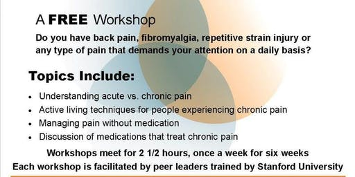*FREE* Our Pathways to Health CHRONIC PAIN Self Management Workshop