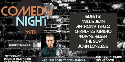 "Comedy night with ""Jordan Garnett"" at the Artful Dodger"