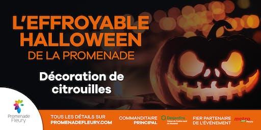 L'effroyable Halloween de la Promenade : Décoration de citrouilles