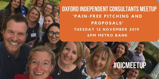 Oxford Independent Consultants Meetup November 2019