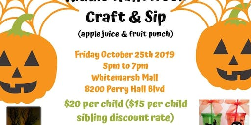 Kiddie halloween craft and Sip