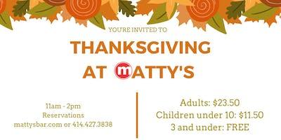 Thanksgiving at Matty's!
