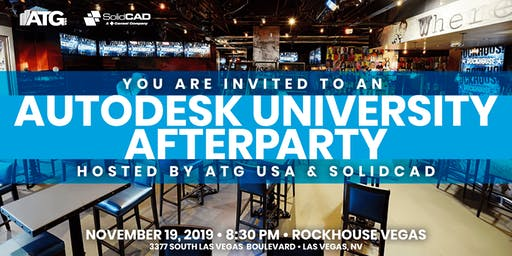 ATG USA & SolidCAD Autodesk University Afterparty