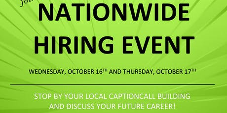 CaptionCall Nationwide Hiring Event! tickets