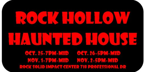Rock Hollow Haunted House