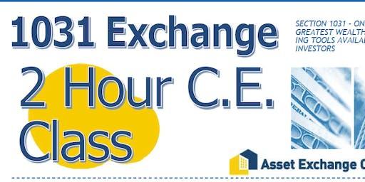 1031 Exchange 2 Hour CE Class
