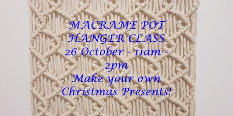 MACRAME POT HANGER CLASS tickets