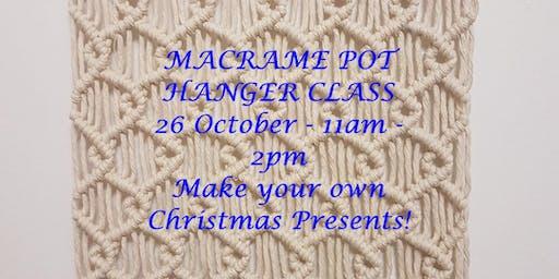 MACRAME POT HANGER CLASS