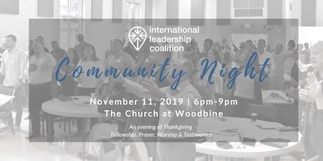 International Leadership Coalition Community Night tickets