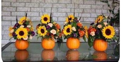 Pumpkin Centerpieces, Cider & Snacks