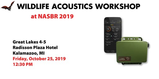 Wildlife Acoustics Song Meter Mini Bat Lunch and Learn at NASBR 2019