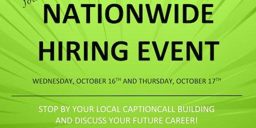 CaptionCall Nationwide Hiring Event!