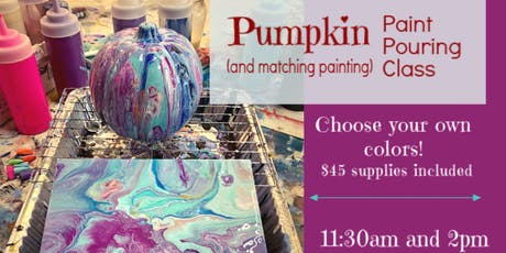 Halloween Pumpkin Paint Pour with Matching Canvas! tickets