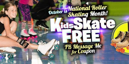 Copy of Kids Skate Free Saturday 10/19/19 at 10am (with this ticket)