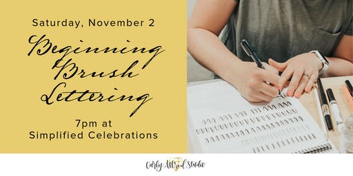Beginning Brush Lettering Workshop