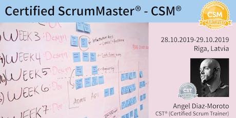 Certified ScrumMaster® (CSM®) tickets