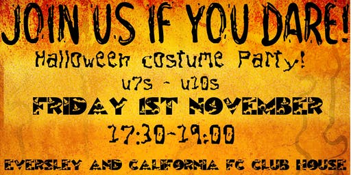 Eversley and Cali Youth FC Halloween Costume Party