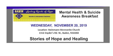 Mental Health & Suicide Awareness Breakfast tickets