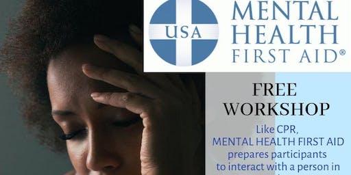 Mental Health First Aid FREE WORKSHOP