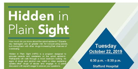 """Hidden In Plain Sight"""" A glimpse into a teens bedroom to bring awareness of possible signs of drug use and other risky behaviors in teens.  tickets"""