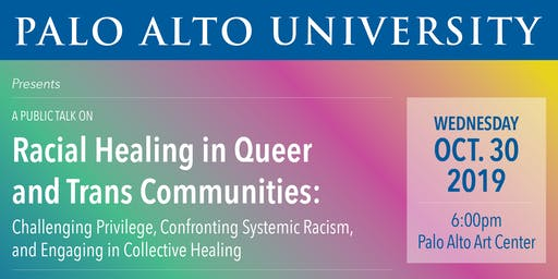 A Public Talk on Racial Healing in Queer and Trans Communities