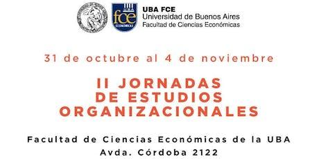 II Jornadas de Estudios Organizacionales entradas