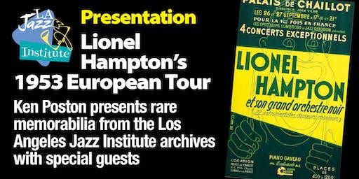 Lecture - Lionel Hampton's European Tour