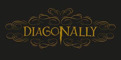 Diagonally