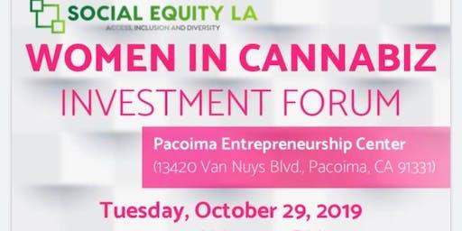 Women In Cannabiz - Investment Forum