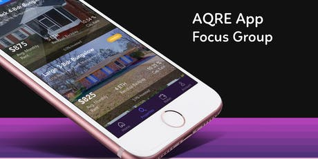 Focus Group for AQRE Blockchain Real Estate App tickets