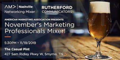 Marketing Professionals Networking Mixer - November 19, 2019