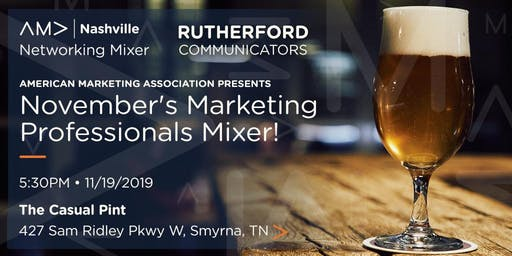 Marketing Professionals Networking Mixer - November 19, 2019