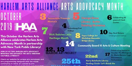 Harlem Arts Alliance:  Arts Advocacy Month Celebration
