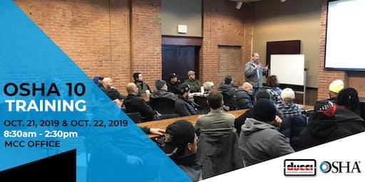 OSHA 10 Training - October 2019