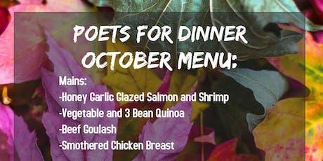 Poets For Dinner, Outstanding October tickets