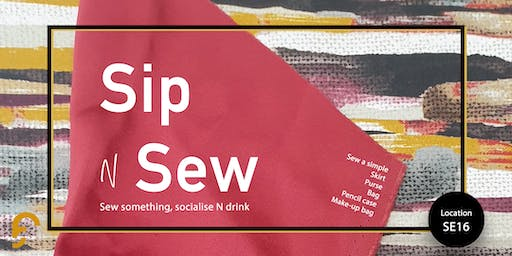 Sip N Sew (all levels welcome)
