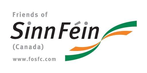 Friends of Sinn Féin (Canada) Inc. proudly presents an evening of Dinner, Music & Auction with  Megan Fearon, Sinn Féin MLA, Newry & Armagh