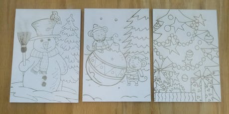 Holiday Painting in the Fab Lab, laser engrave, paint, kid friendly tickets
