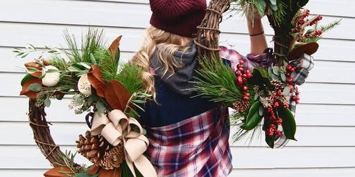 Boughs & Brews at Lupulin. A wreath workshop and craft beer night!