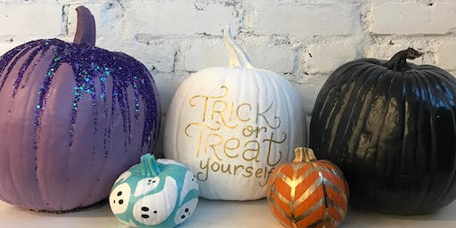 Pumpkin Painting at Lionheart Prints!